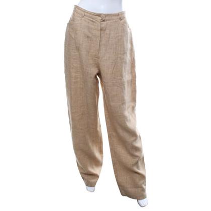 Chanel Pantaloni di lino in multicolor