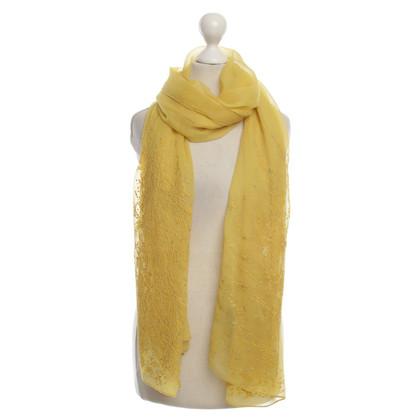 Salvatore Ferragamo Zijden sjaal geel