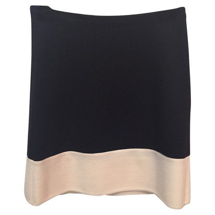 Moschino Cheap and Chic white and black knit skirt