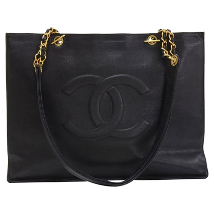 Chanel Shopper kaviaar leder