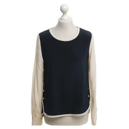 Diane von Furstenberg Zijden blouse in Bicolor
