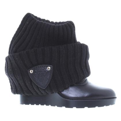 Gucci Overknee-laarzen met Strickschaft