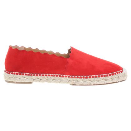 Chloé Rode slippers met bast
