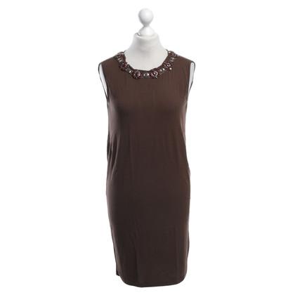 Twin-Set Simona Barbieri Jersey dress in brown