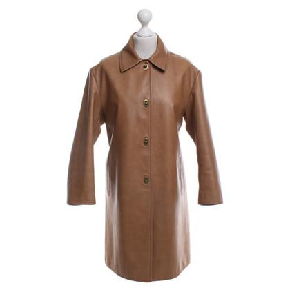 Miu Miu Leather coat in beige