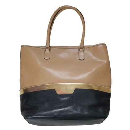 Coccinelle Leather handbag with Colorblocking