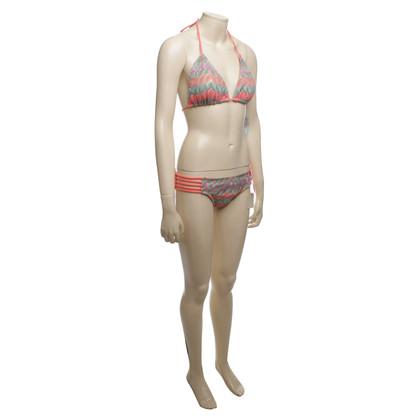 Luli Fama Bikini mit buntem Muster