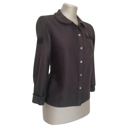 Mulberry Blouse with Ruffles