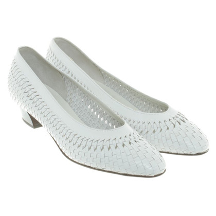 Bally Leather pumps with Entrelac pattern