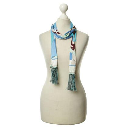 Emilio Pucci Silk scarf with fringe