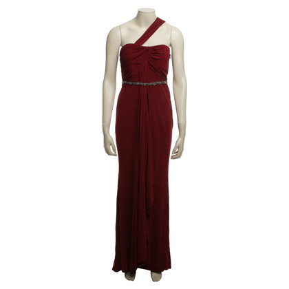 Badgley Mischka Abendkleid in Weinrot
