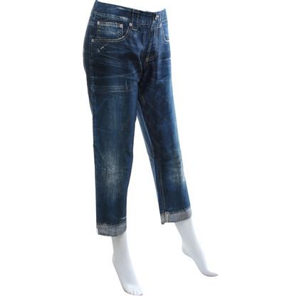 Dondup Pantaloni di seta in look jeans