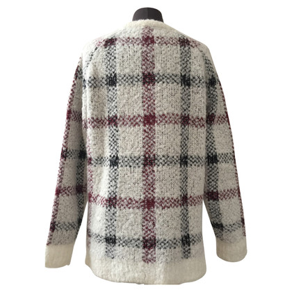 Theory Plaid knit pullover
