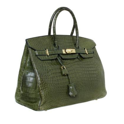Hermès Borsa Birkin 35 alligatore Vert Veronese