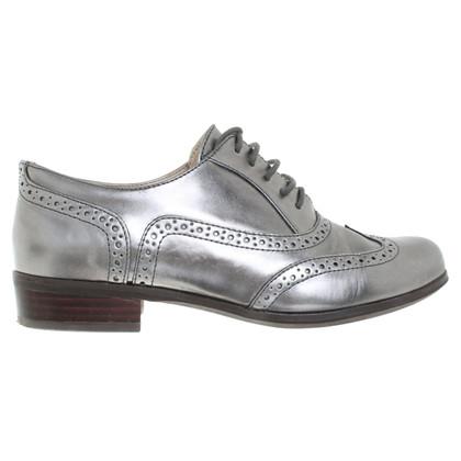 Clarks zilverachtige Veterschoenen