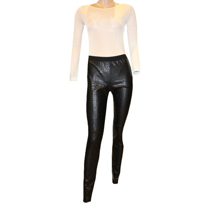 Marc Cain Leather-look leggings
