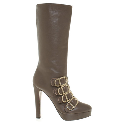 Pinko Leather boots in taupe