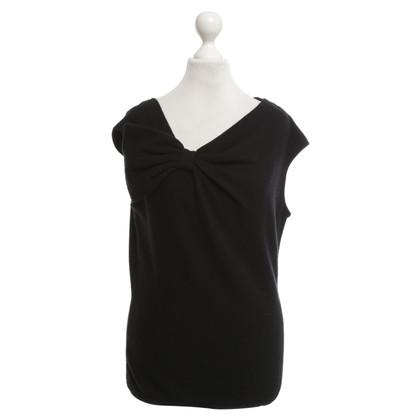 Valentino Cashmere top in black