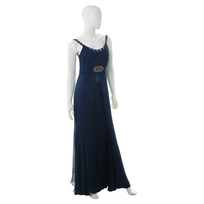 Ella Singh Silk dress in dark blue