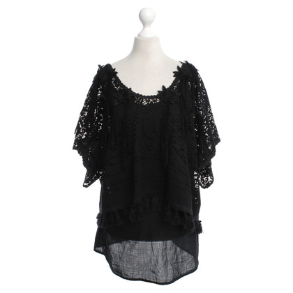 Anjuna Crochet top in black