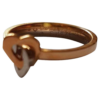 Cartier Two Hearts Motif Gold Ring