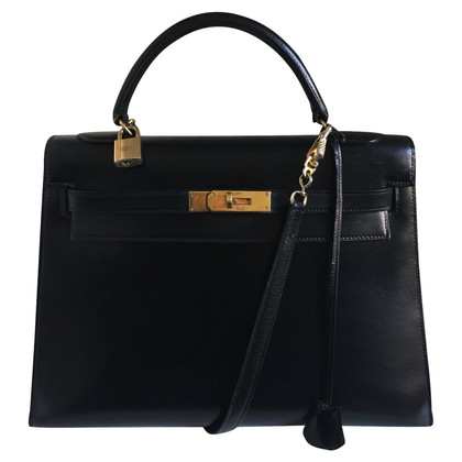 Hermès kelly 32 black box shoulder strap