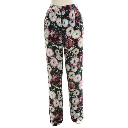BCBG Max Azria Summer pants with a floral pattern
