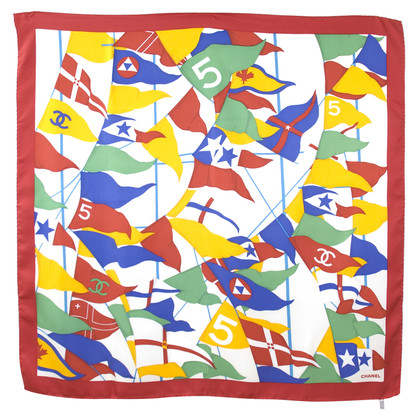 Chanel Mark silk scarf