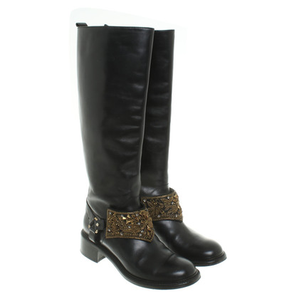 Alberta Ferretti Leather boots in black