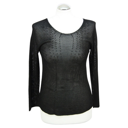 Armani Collezioni Transparent sweater in black