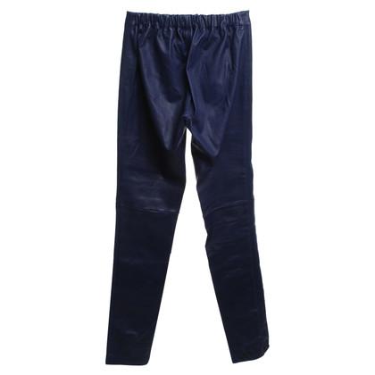 Joseph Pantalon en cuir avec élastique à la taille