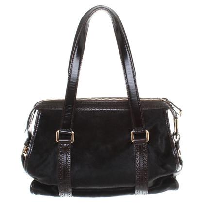 Céline Handbag with pony fur trim