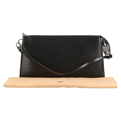 Louis Vuitton Pochette Accessoires Epi Leder Schwarz