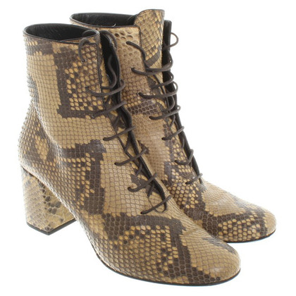 Saint Laurent Boots Snakeskin