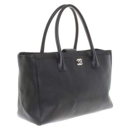 """Chanel """"Cerf Tote XL"""" in zwart"""