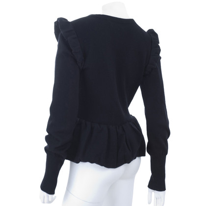Burberry Knitted Cardigan with peplum