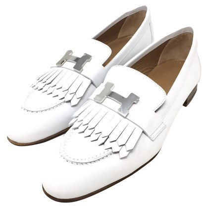 Hermès Loafers in white