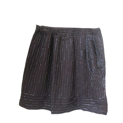 Antik Batik embellished wool mini skirt