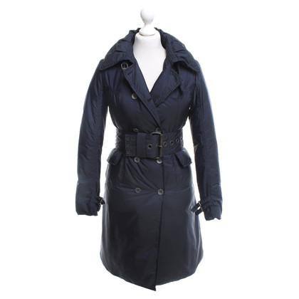 Ermanno Scervino Giù cappotto blu scuro