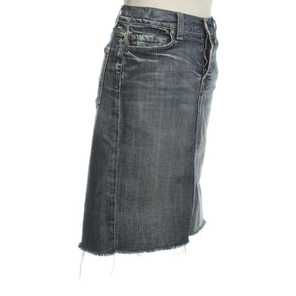 7 For All Mankind Jeansrock Distrutto