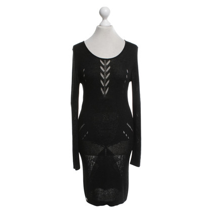 Philipp Plein  Strickkleid in Schwarz