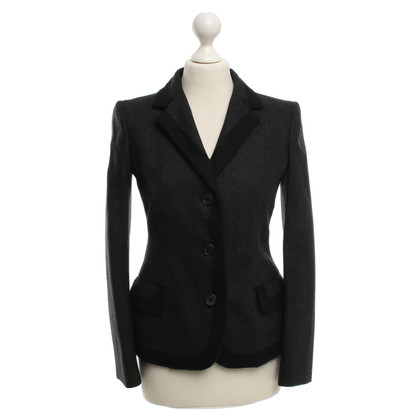Prada Lana giacca in grigio scuro