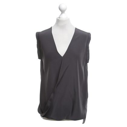 Schumacher camicetta di seta di colore grigio