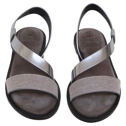 Brunello Cucinelli sandali color argento