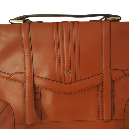 Aigner Aktentasche in Cognac