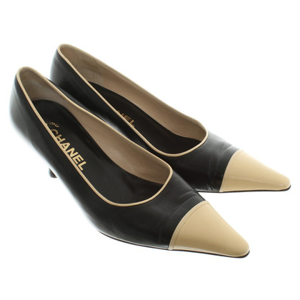 Chanel pumps leer in zwart