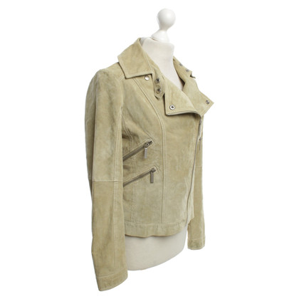 Michael Kors Suede leather jacket in green
