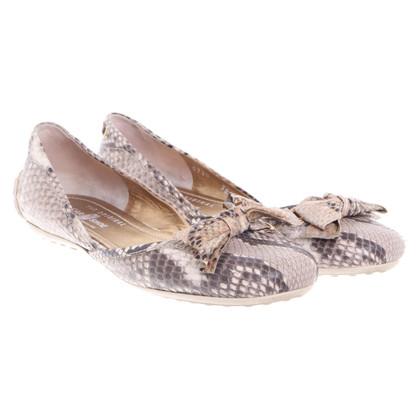 Car Shoe Ballerinas in reptile look