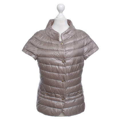 Herno gilet Down in taupe