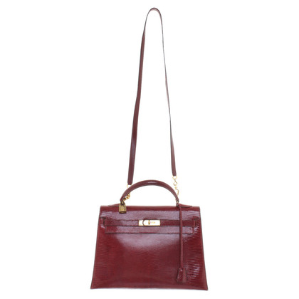 "Hermès ""Kelly Bag 32"" made of lizard leather"